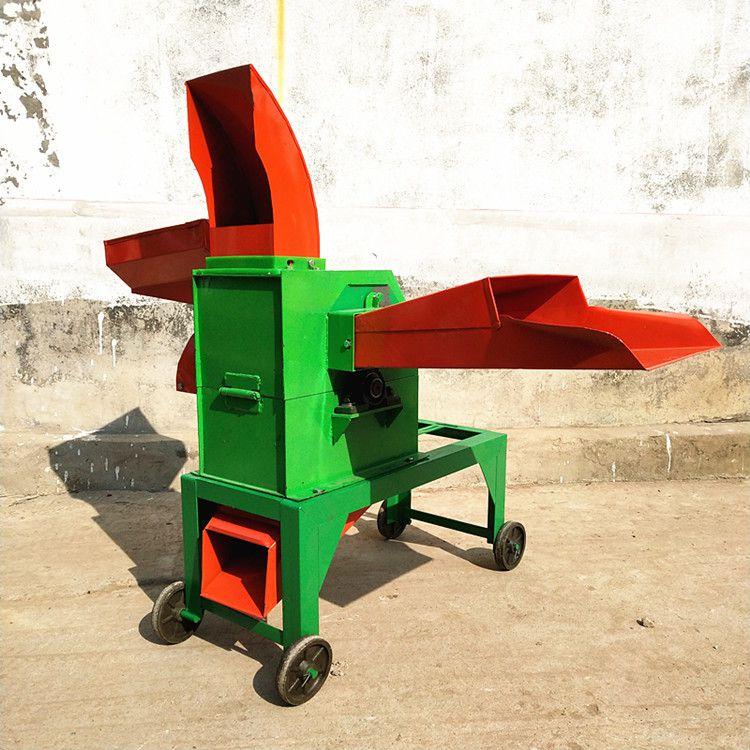 新型四刀青贮铡草机 小型玉米秸秆高喷铡草机