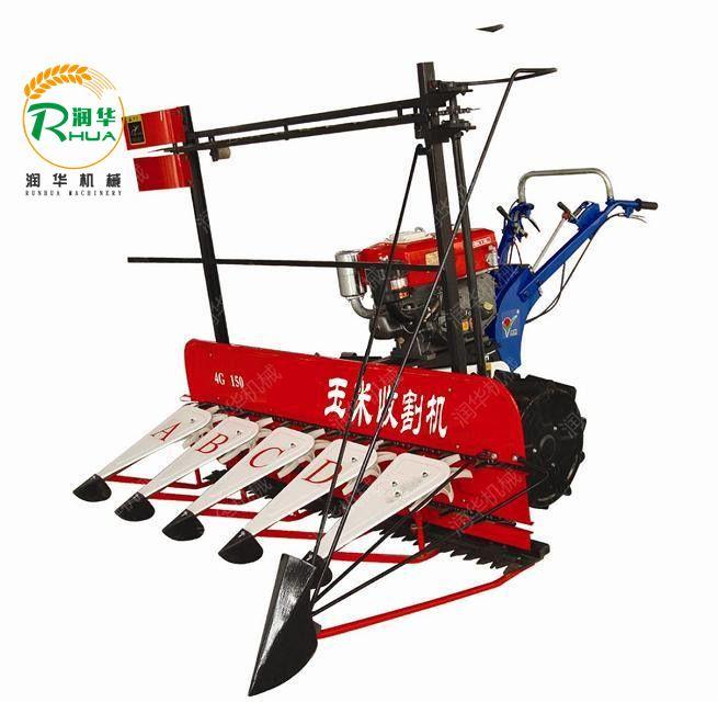 四轮车带芦苇收割机 谷子打捆割晒机 手扶式收割机