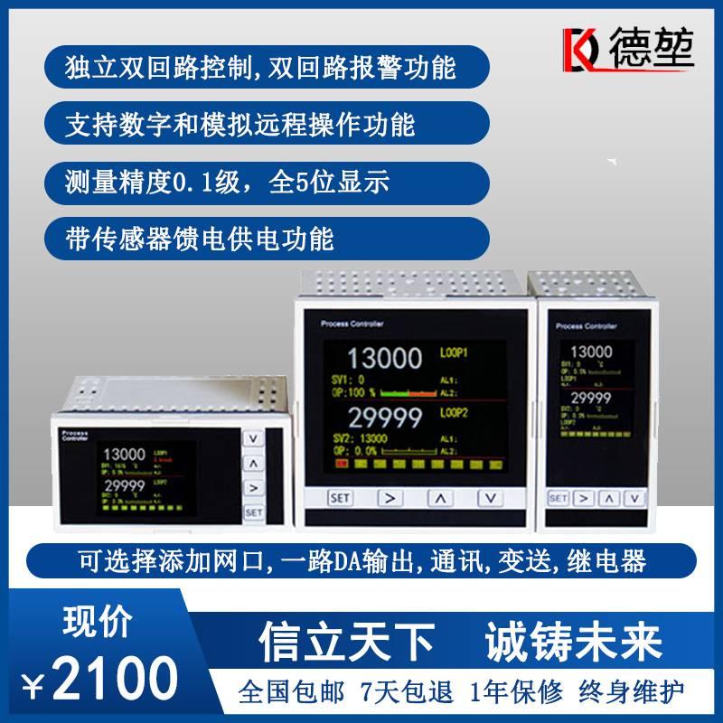 DK2800D真彩屏双回路PID曲线温度过程控制器