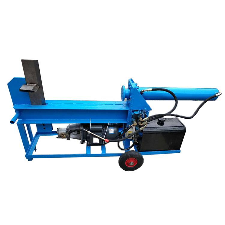 【电动液压劈柴机现货 20吨铡刀式劈木机 立式木材劈_图片