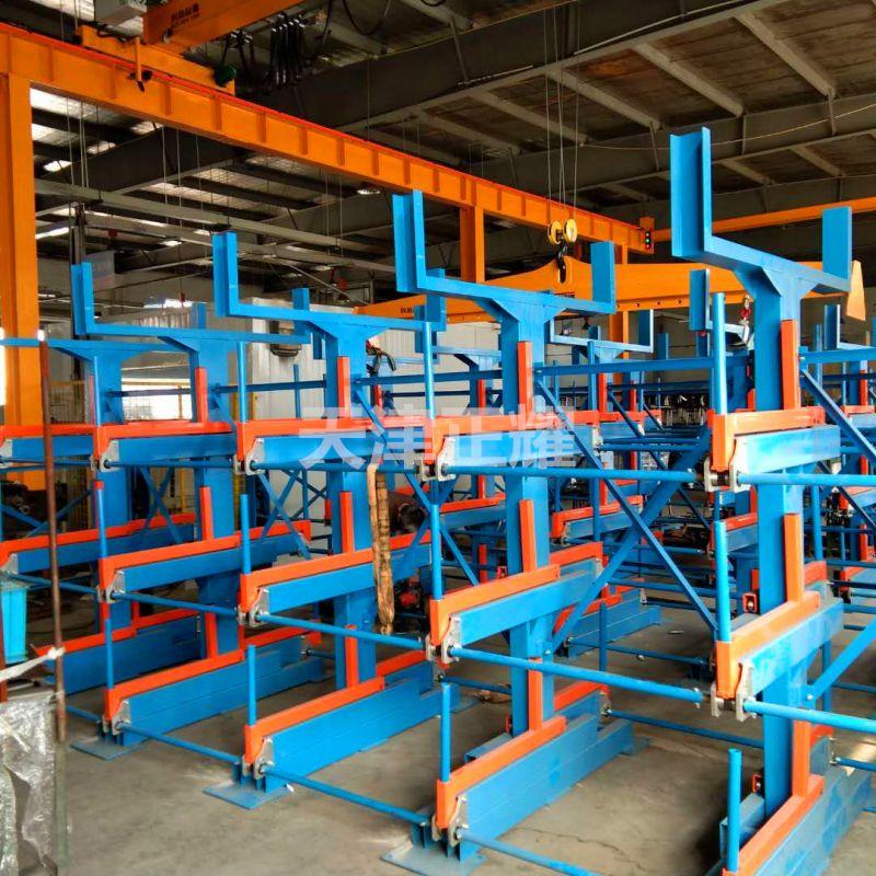 昆山客户悬臂伸缩式货架安装调试 管材货架完工