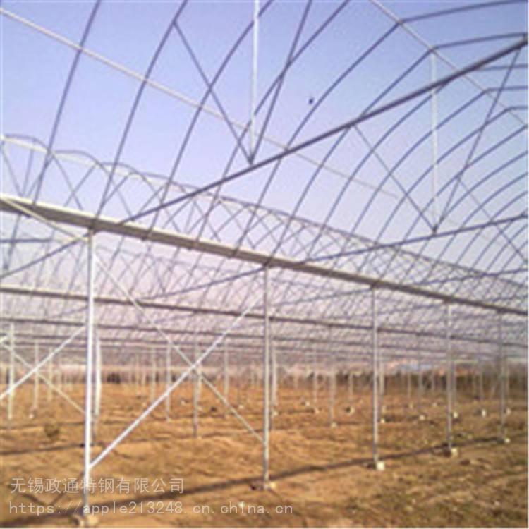 温室大棚热镀锌钢管加工安装配件批发 湖州大棚钢管大棚管厂