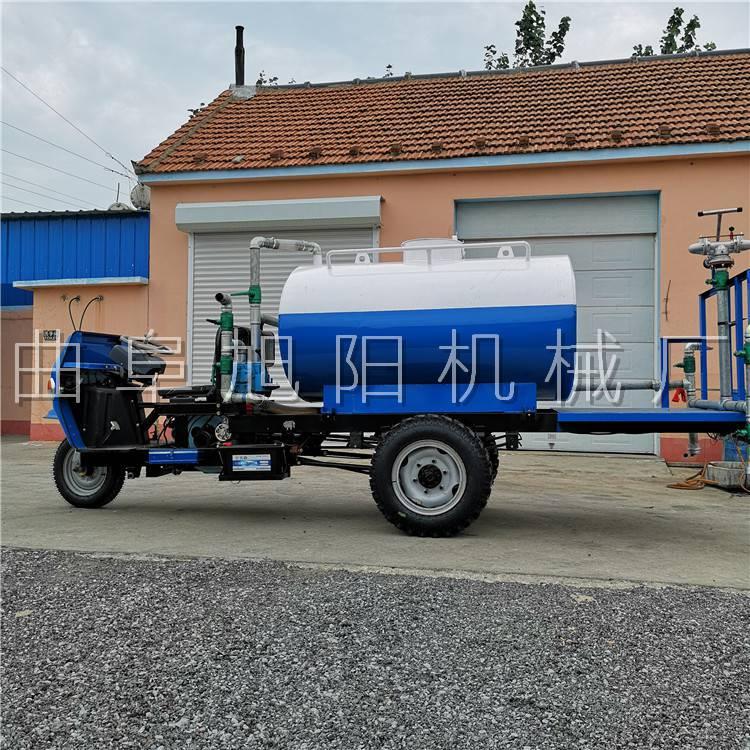 暢銷柴油三輪灑水車18馬力工地專用降塵霧炮車2立方三輪清洗機