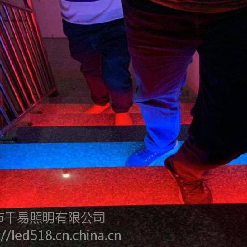 耐磨又防滑发光地砖LED台阶灯带