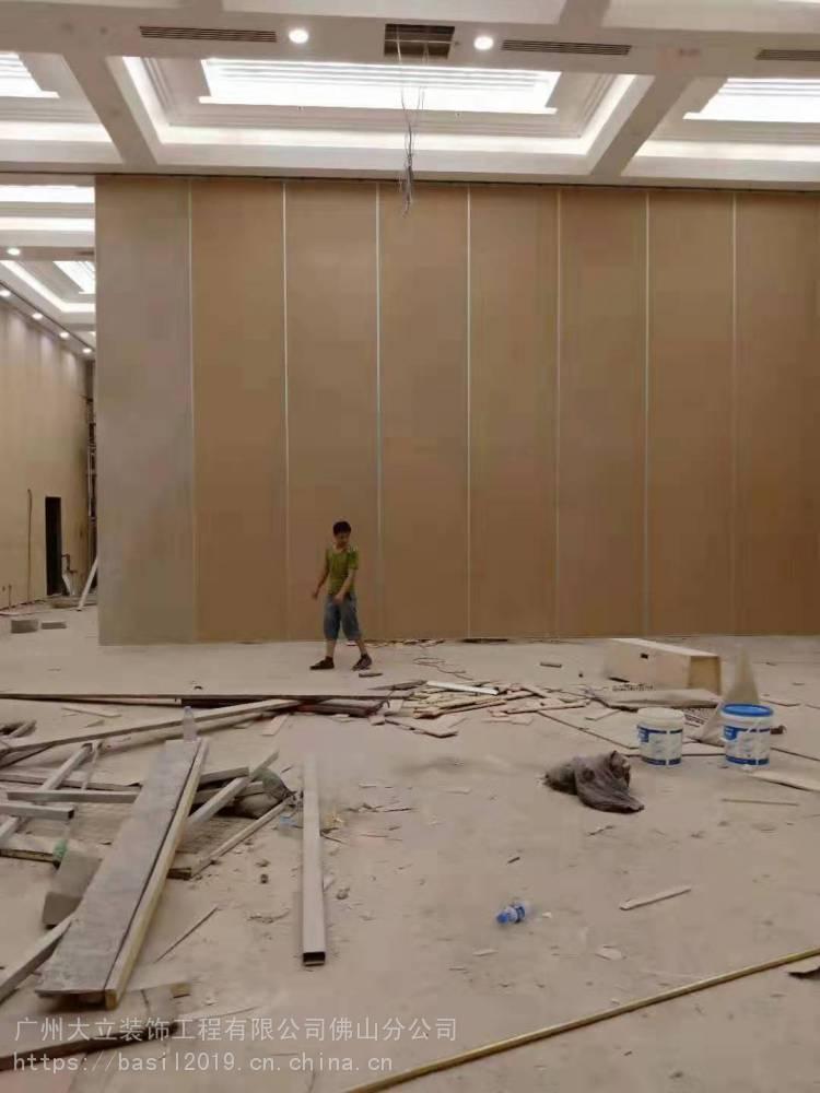 供应大立酒店活动隔断 成品移动隔墙 木饰面移门 隔音推拉门 65型/85型/100型/125型