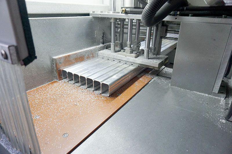 邓氏切铝机铝管切割机视频  DS-A400铝材切割机 产量高