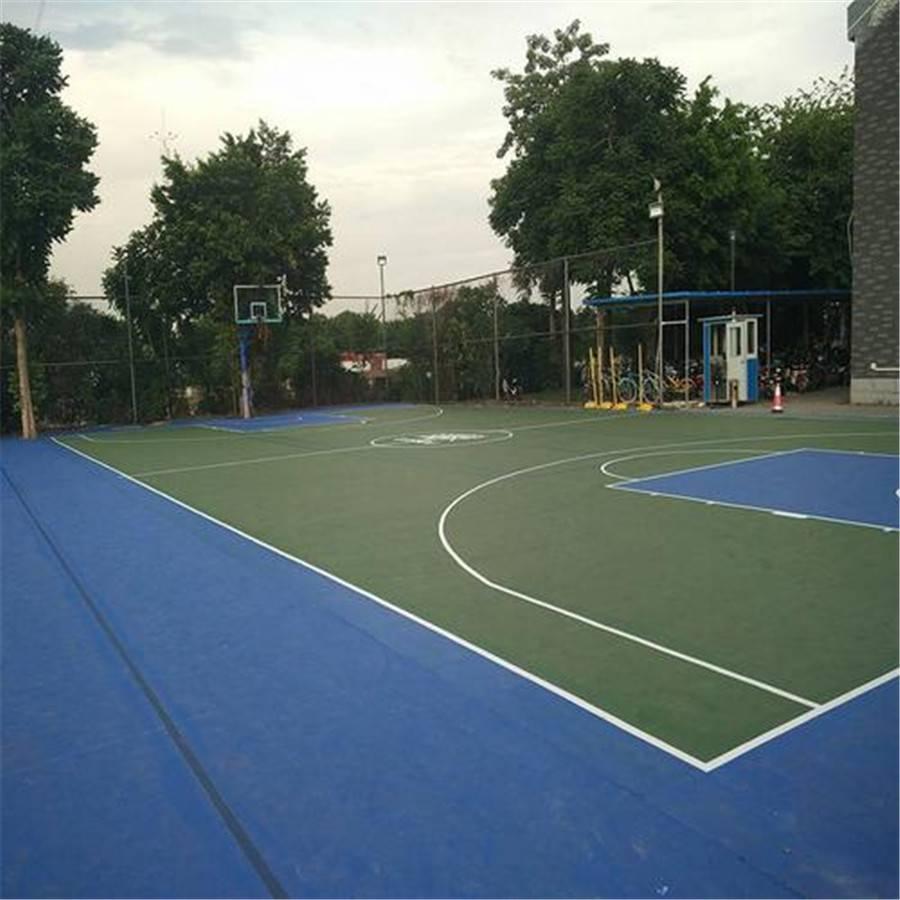 济南硅pu篮球场 弹性球场地面铺装