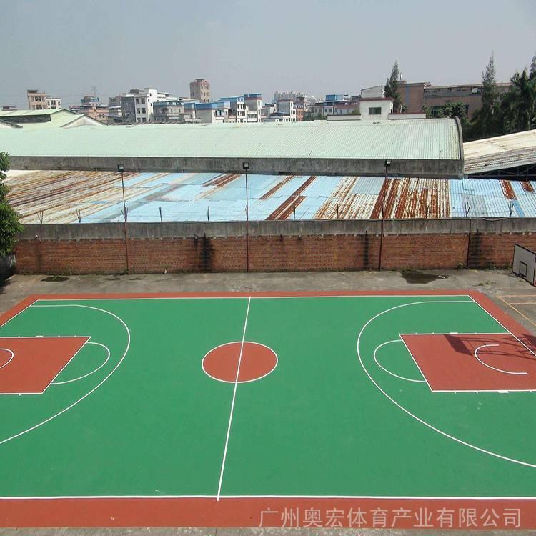 梅州丙烯酸篮球场铺设 梅州丙烯酸篮球场铺设报价