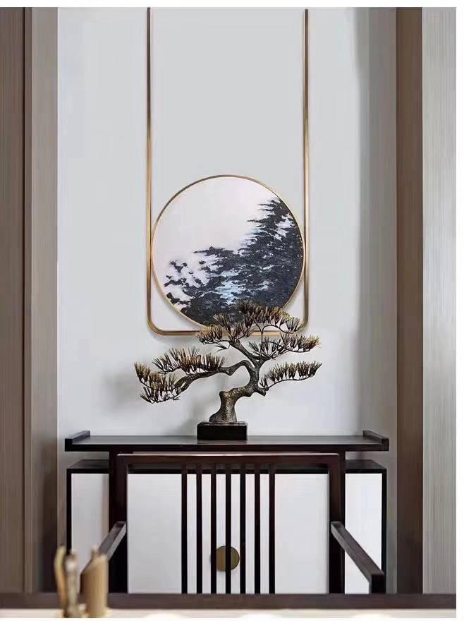 中國風不鏽鋼畫框鏡框定制_304拉絲不鏽鋼方圓畫框鏡框來圖定制