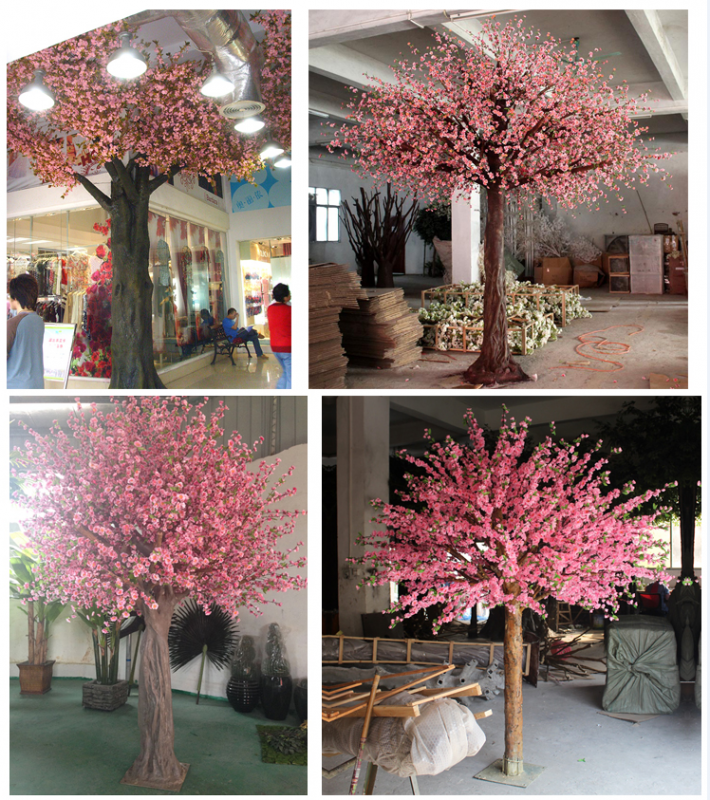松濤仿真樹假樹廠家 加拿大仿真櫻花樹現場安裝視頻