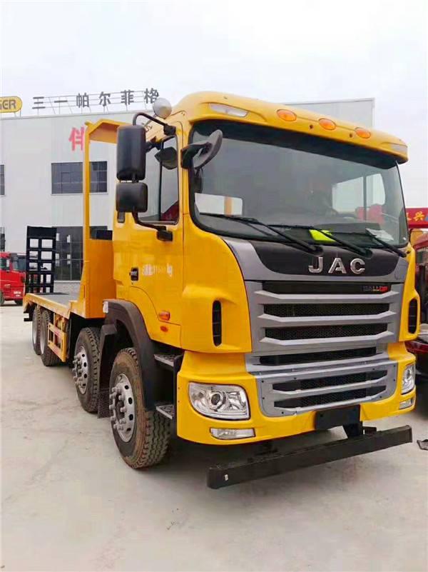 江淮前四后八短轴距挖机平板车 玉柴300马力便宜的拖车厂商2.8L