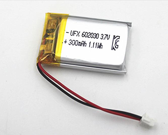 深圳厂家供602030聚合物3.7v300mah通讯器材美容仪POS机