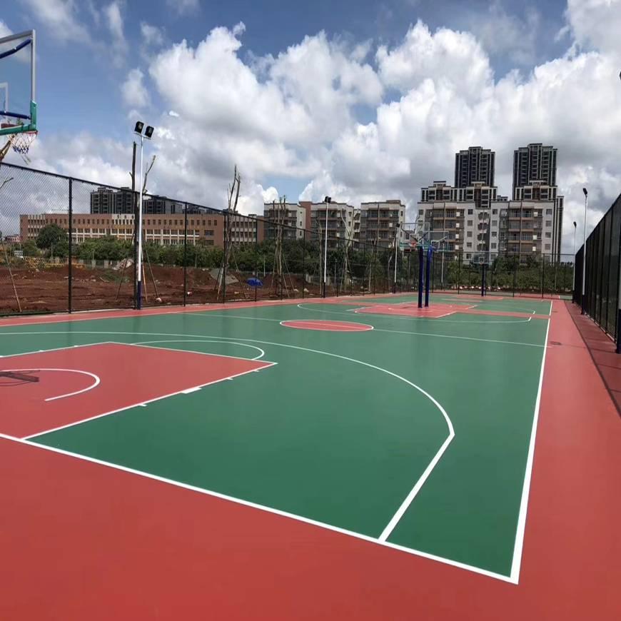 硅pu篮球场施工价格,篮球硅pu场馆图片