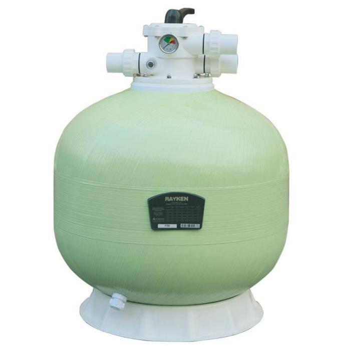 華膜泳池水處理高密度玻璃纖維砂缸設備砂缸過濾器寧夏砂缸廠家直銷Ф350mm頂出繞絲砂缸連15寸