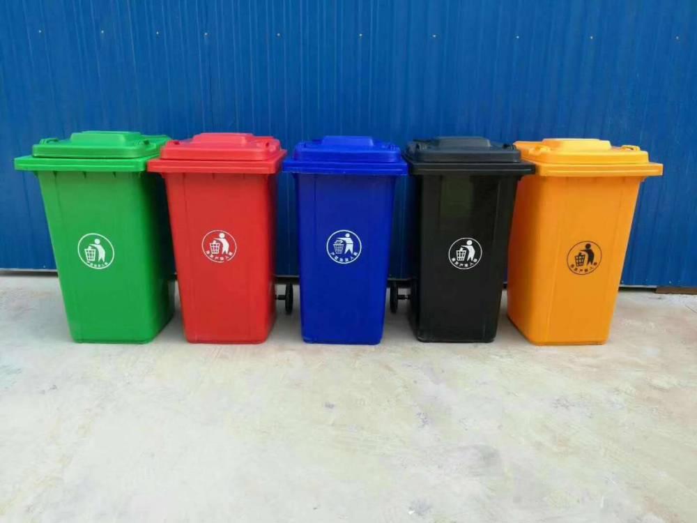 厂家生产的塑料垃圾桶靠机械手臂全自动智能抓取