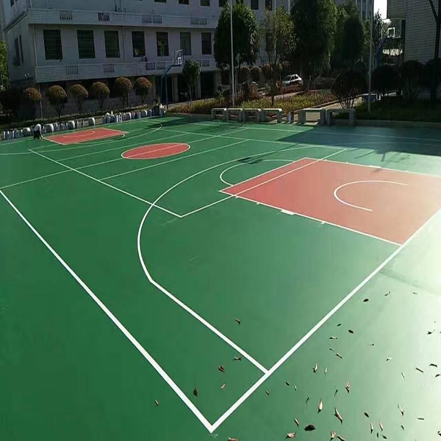 丙烯酸塑胶篮球场材料厂家图片