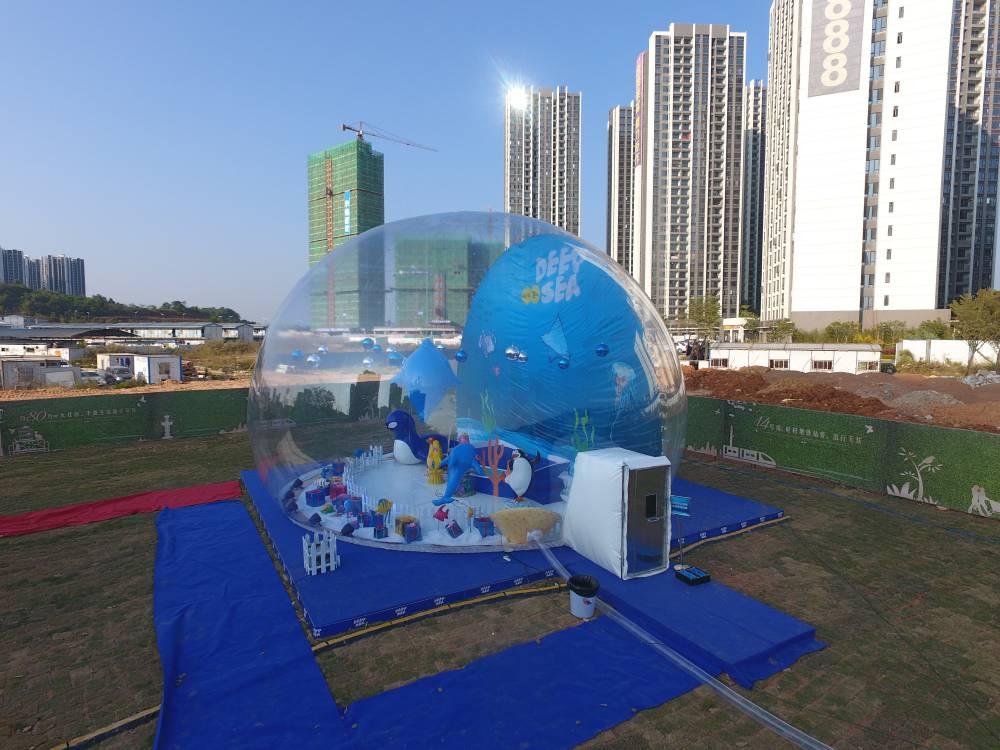 泡泡屋 水晶宫 粉猪乐园 透明充气城堡