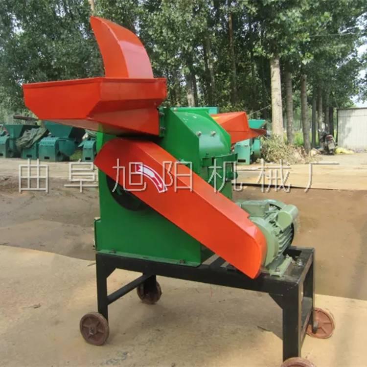 生產旭陽多功能鍘草機干濕秸稈粉碎機養殖場用飼料加工機