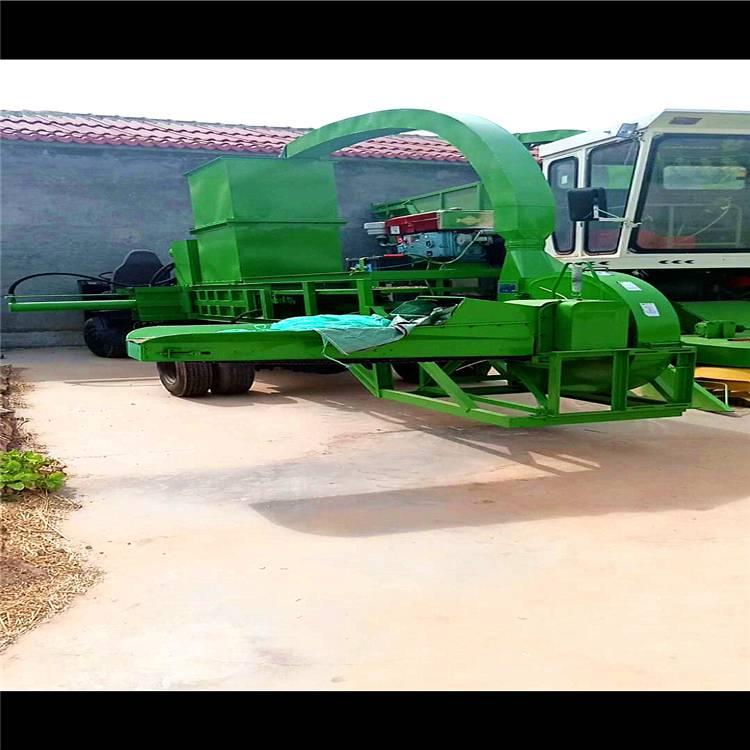 自走式铡草压块一体机 玉米秸秆粉碎方捆机 全自动秸秆打包机