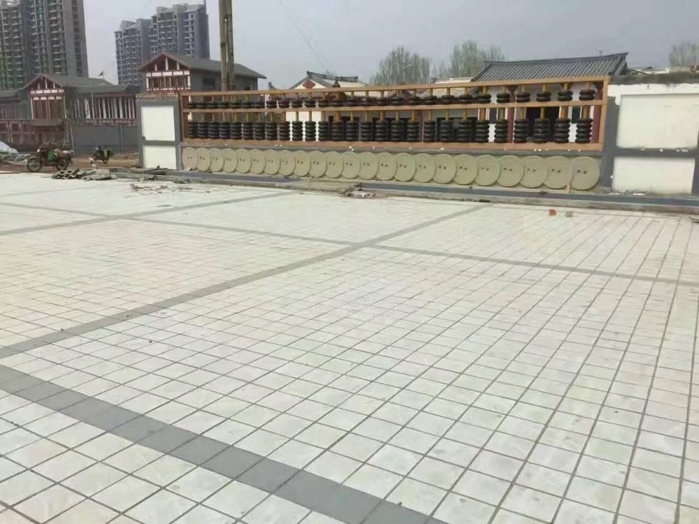屋面廣場磚廠家 全瓷加厚 大量現貨 白色藍色樓頂磚廠家