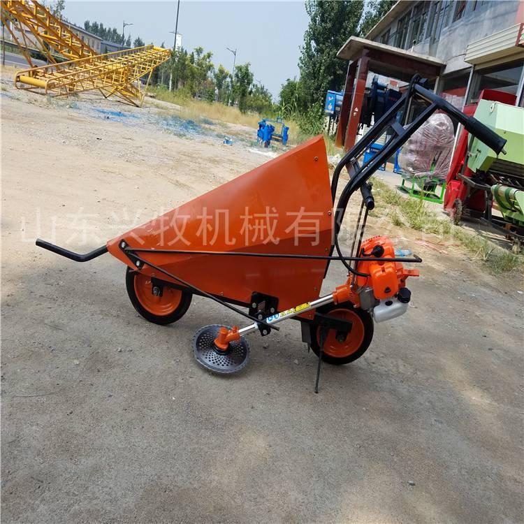 手推汽油小型割曬機 農用多功能割曬機 手扶車帶收割機