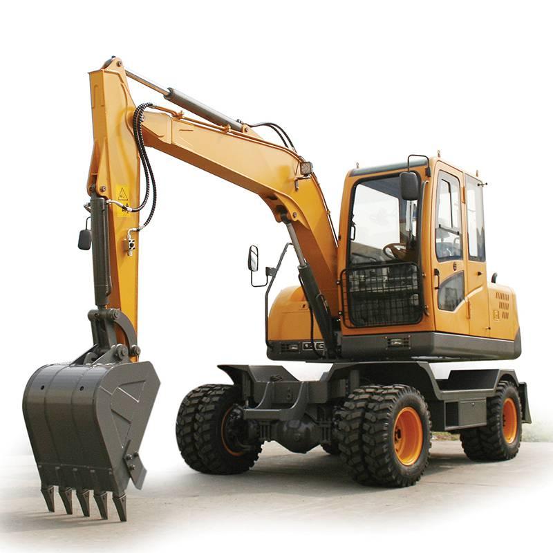 克瑪達小型輪式挖掘機KW75裝配下線試機中