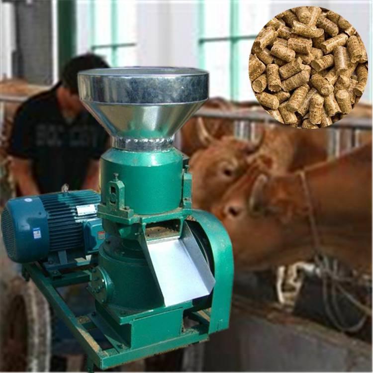 润林稻壳颗粒机牛饲料颗粒机平模颗粒机价格