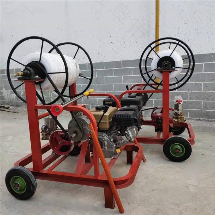 高壓汽油殺蟲噴霧器 大容量園林防蟲害打藥機自動卷管回收打藥機