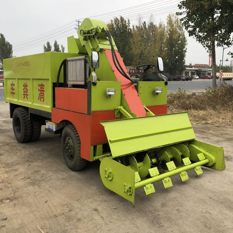 牛场专用清粪车价格 大型粪便清理机 柴油动力清粪机