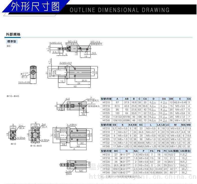 上一个  品牌恒扬 型号hfz16 种类手指气缸 动作方式单作用 缸径图片