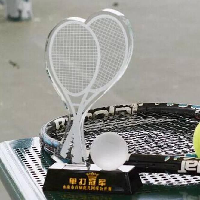 水晶羽毛球奖杯 体育比赛奖杯 运动会奖杯