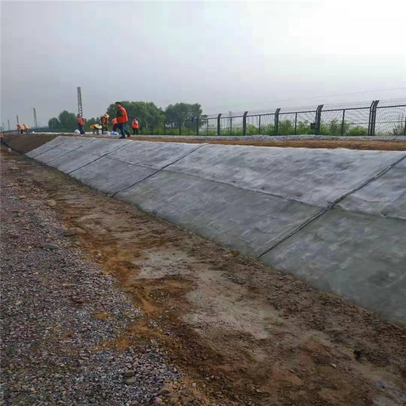 水泥毯护坡施工 洒水速干水泥毯搭接施工指导