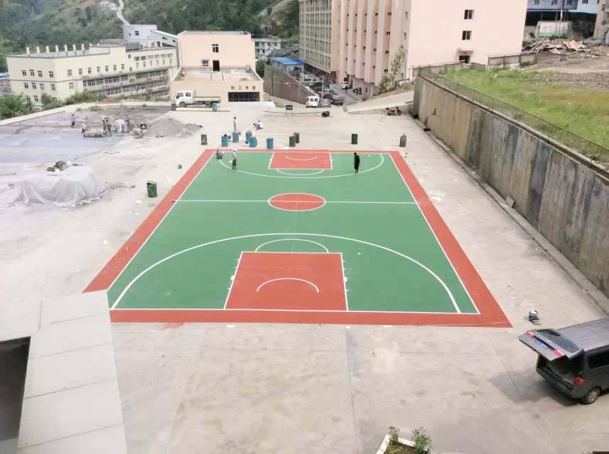湖南大学操场篮球场施工-长沙小区塑胶球场按面积施工