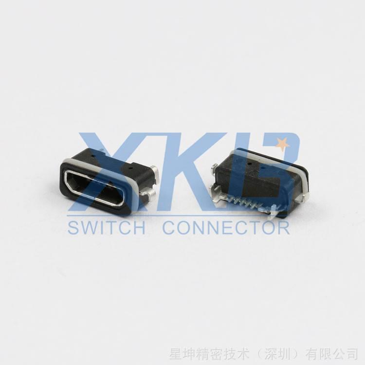 MICROUSB5P 防水AB型母座 MICRO连接器 防水手机插座 USB防水插座