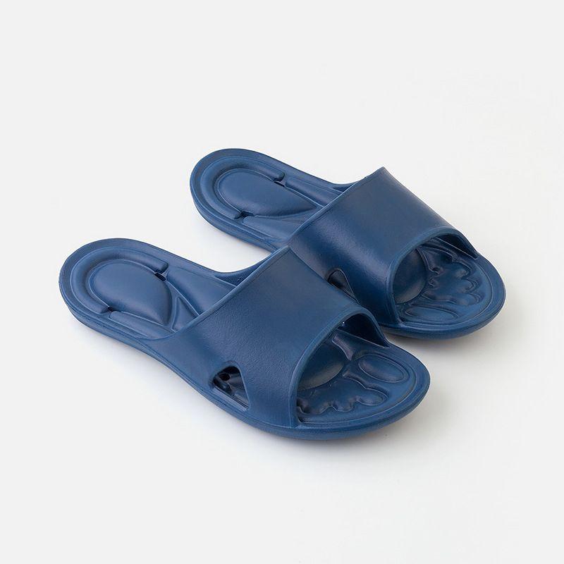 漏水洗澡浴室拖鞋男 夏季情侣家居防滑脚底按摩冲凉托鞋女 EVA鞋底