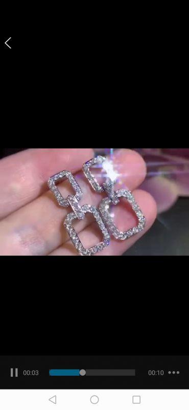 高级定制首饰钻石珠宝设计款加工批发定制耳环接单免费设计定制