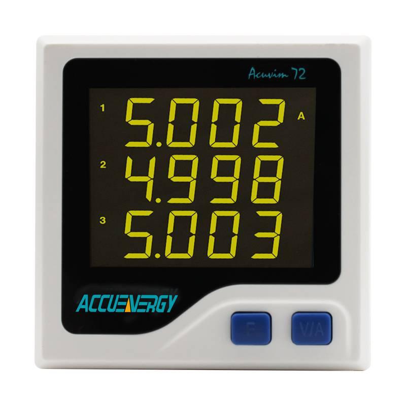 供应爱博精电Acuvim 72紧凑型三相电力仪表,精巧设计,适用于抽屉柜