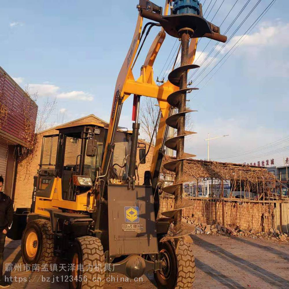 铲车钻孔机 铲车打孔机使用方法 铲车钻孔机使用方法 天泽