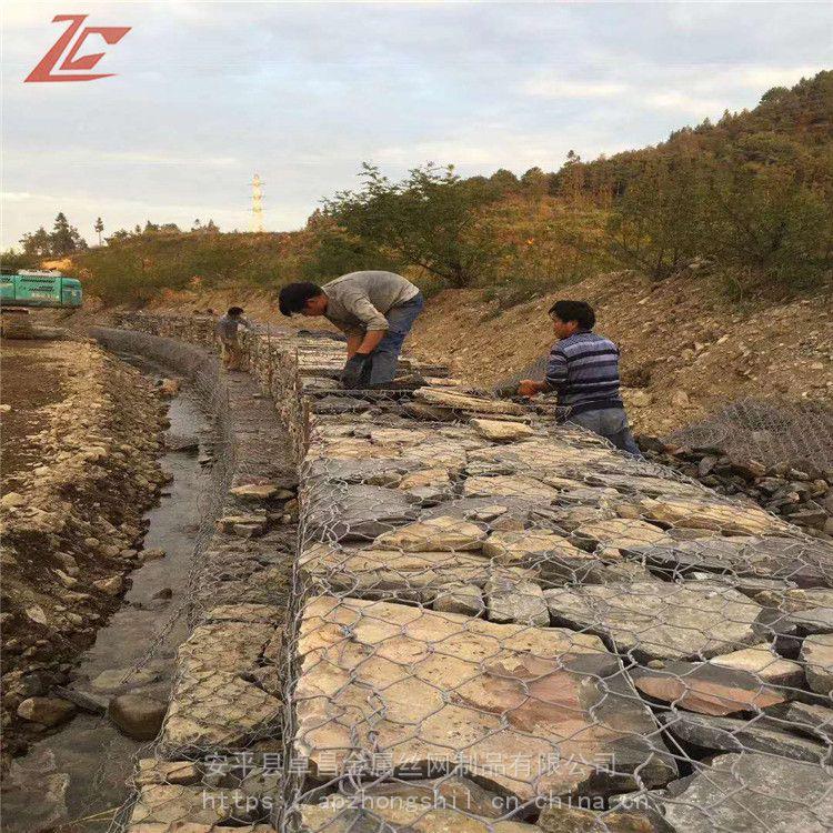 修筑河堤固滨笼 生态护坡工程绿滨垫 镀锌钢丝石笼护坡 三江治理固滨笼