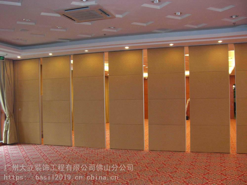 酒店移动隔断 平移折叠门 木质隔音门 成品隔墙施工 活动屏风制作工厂