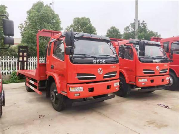 新款东风福瑞卡黄牌平板车80-120挖机拖车配置图片0.8L
