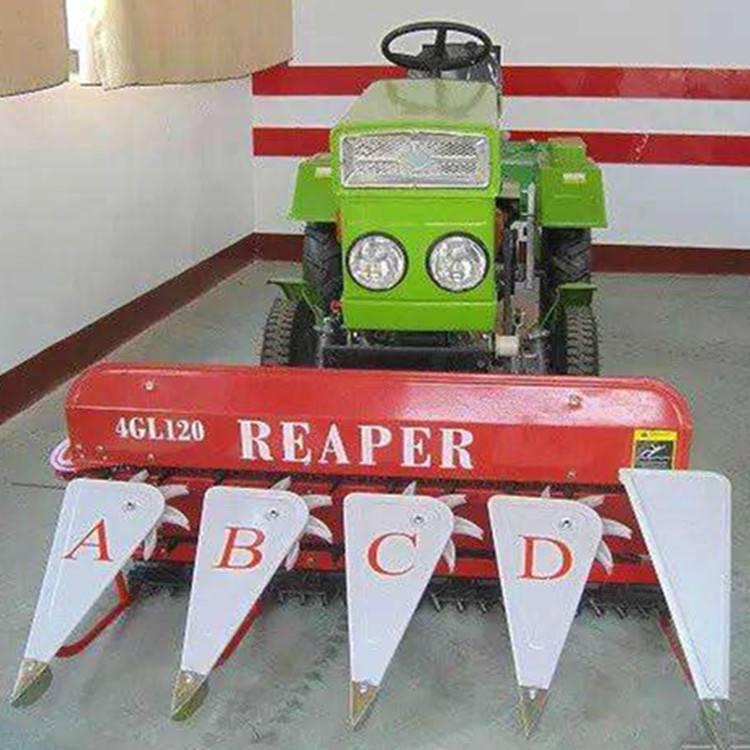 小四轮带辣椒收割机 玉米秸秆割倒机 谷子芝麻割杆机