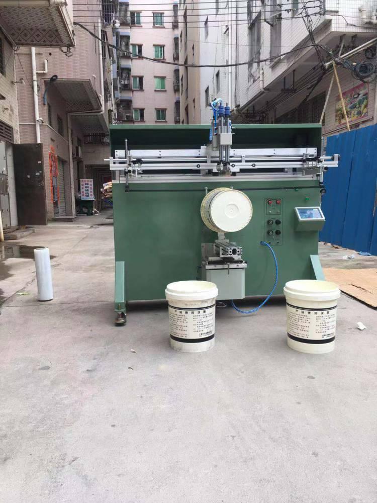 江门涂料桶油漆桶曲面丝印机厂家半自动丝印机