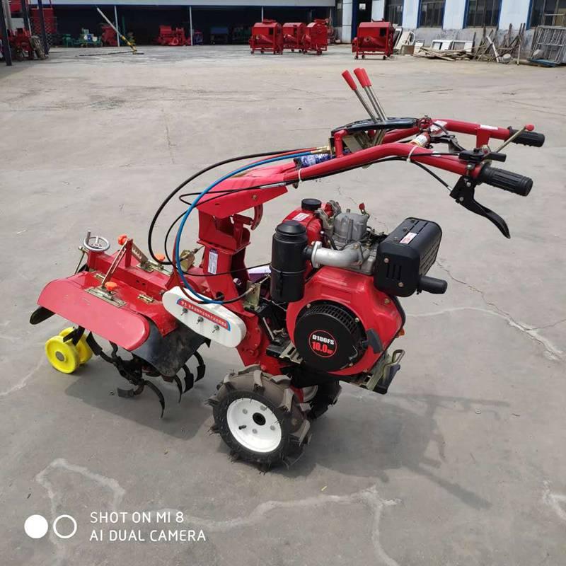 灵活高效大葱培土机  10马力柴油多功能开沟培土机 果园除草