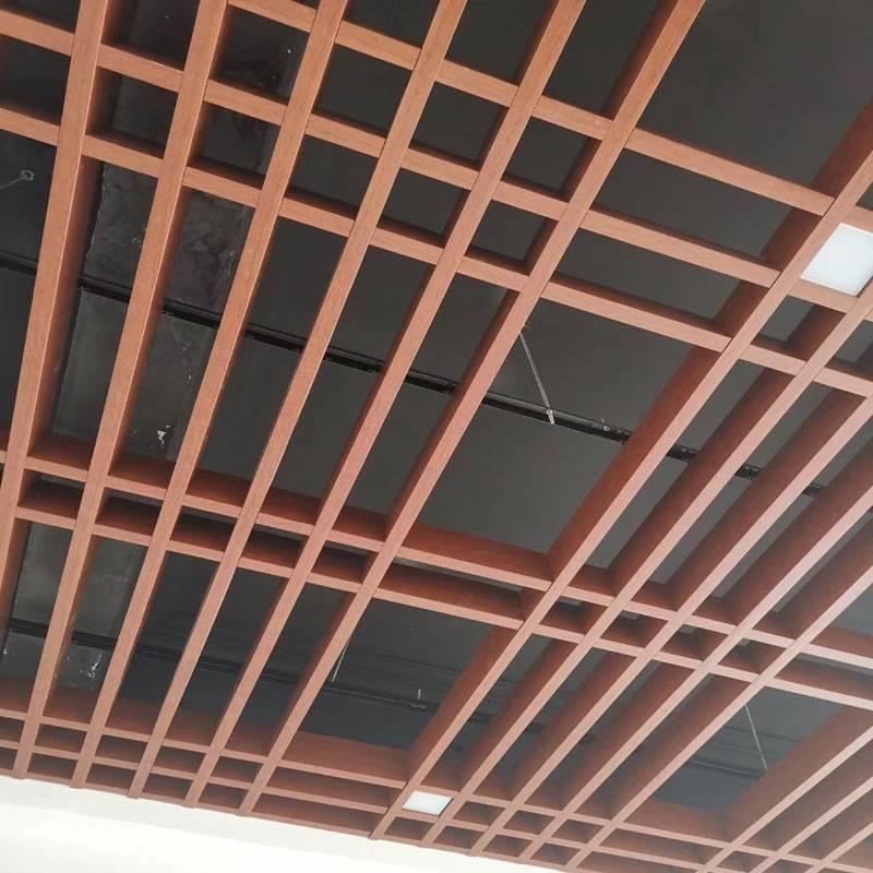 木纹铝方通格栅 随州仿木纹铝通 吊顶铝型材定制
