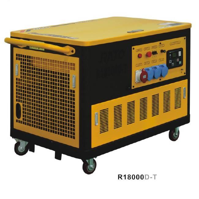 RATOR18000D-T 15KW静音汽油发电机15kva低噪音汽油发电机组