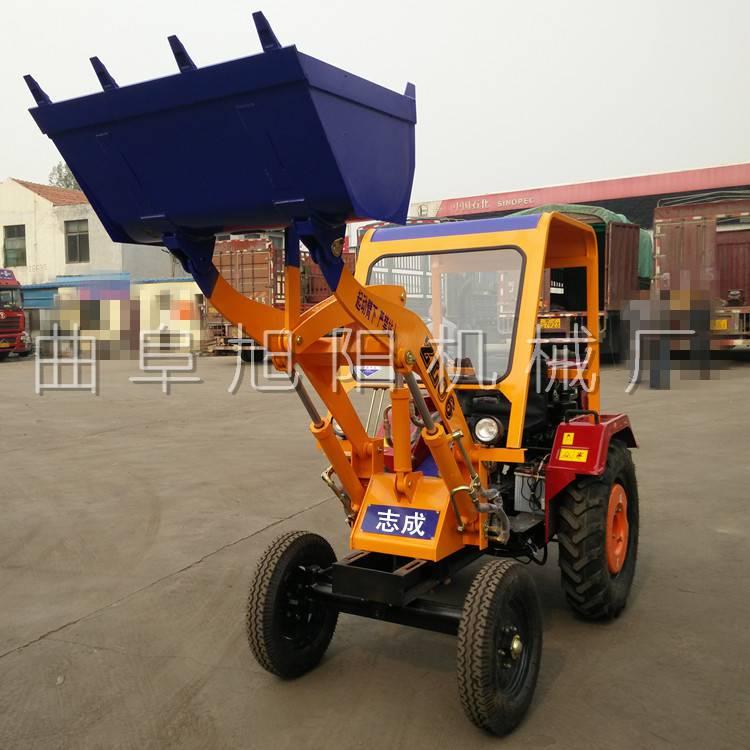 廠家直銷ZL-06小型輪式裝載機前卸式家用型鏟車工地鏟沙灰車