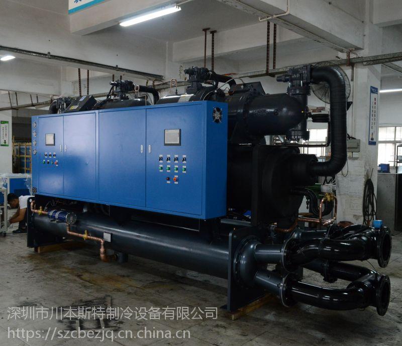 循环水工业制冷机组/循环螺杆冷水机组安装图