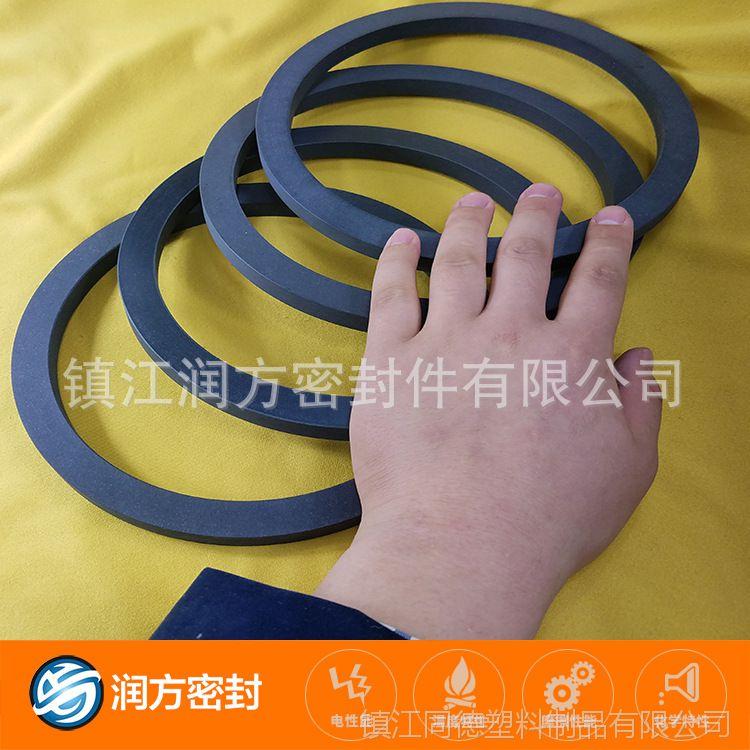 填充碳纤维增强改性聚四氟乙烯耐磨环 PTFE耐磨垫圈 有较强抗压力