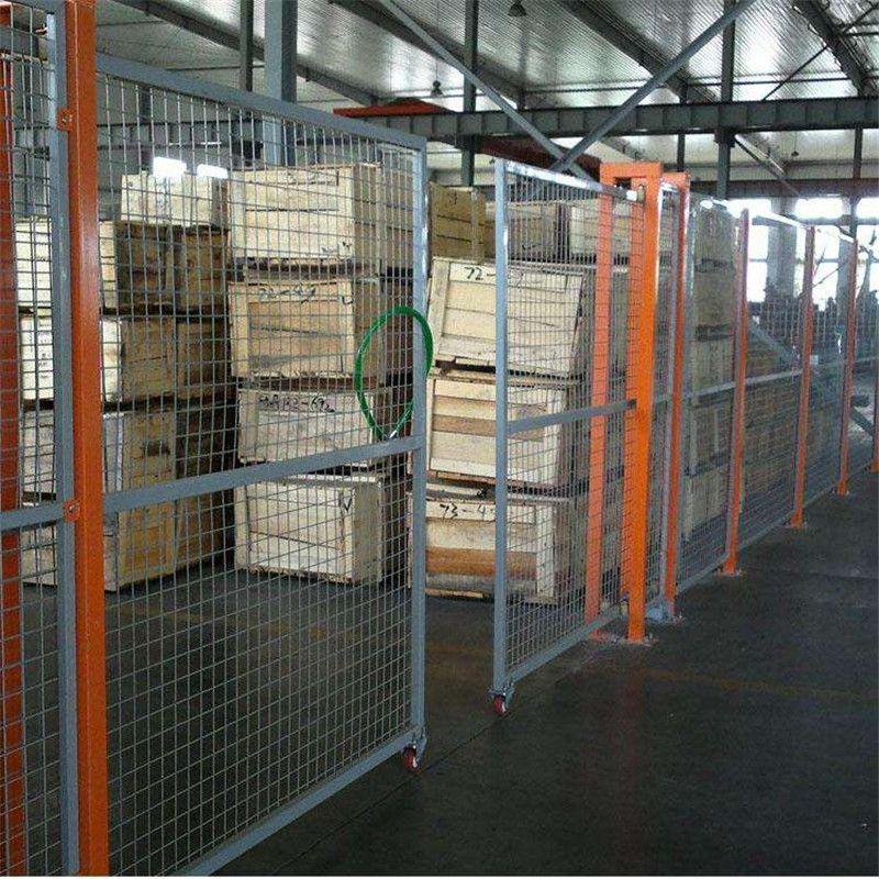 车间黄色隔离网 方孔框架金属网价格 北京车间包塑隔离网栅厂家